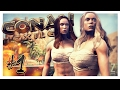 BARBARIAN BABES | Conan Exiles Multiplayer Gameplay Part 1