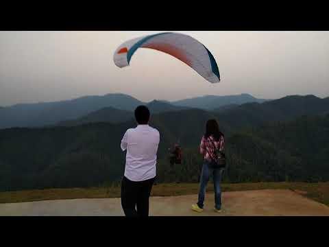 Paragliding in Huaqiao, Hunan Province, China