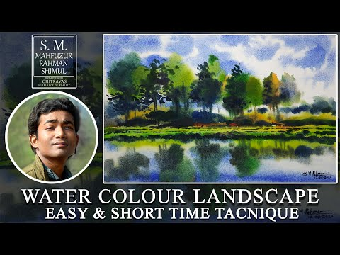 Watercolour Landscape Easy & Short Time Techniques #7