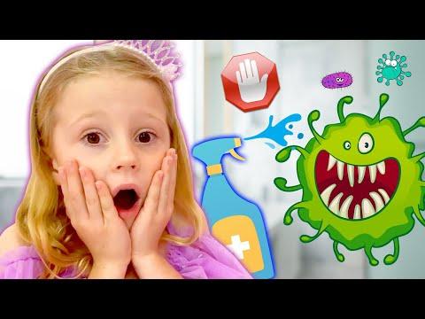 Nastya cho thấy làm thế nào để ngăn ngừa nhiễm trùng và cải thiện sức khỏe, Video cho trẻ em