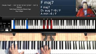 Nobody (by Keith Sweat ft. Athena Cage) - Piano Tutorial