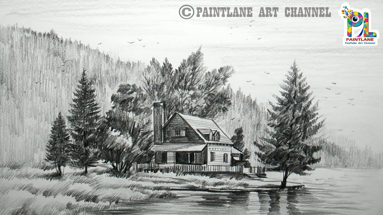 MikeMBurkeDesigns Etsy Shop Blog: Scenic Landscape Drawings  |Charcoal Drawings Of Landscapes