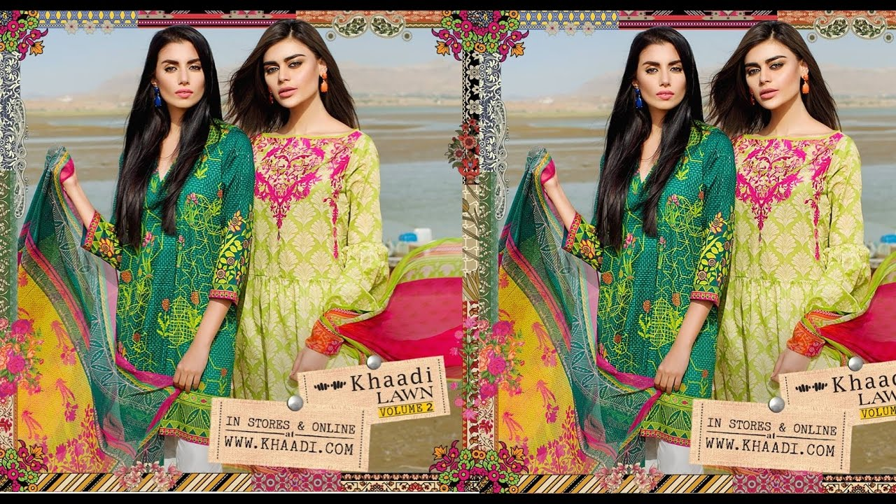 02bbefc047 Lates Khaadi Lawn Vol 2 3 piece summer collection 2017 - YouTube