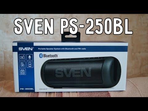 Обзор Sven PS-250bl.  Портативная акустика которая может удивить