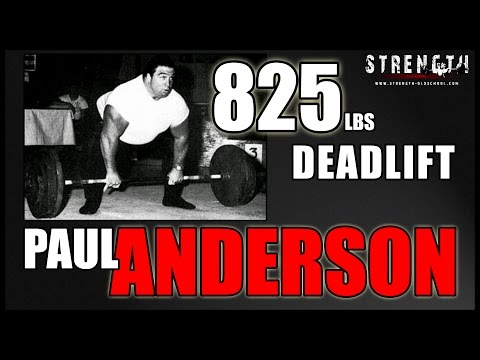 Strongman Paul Anderson  825 Pound Raw Deadlift
