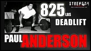 Strongman Paul Anderson - 825 Pound Raw Deadlift