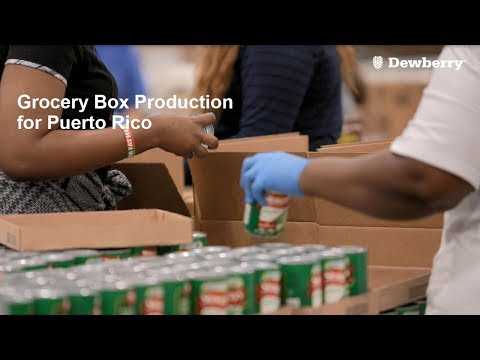Grocery Box Production for Puerto Rico
