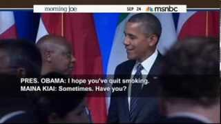 Obama: I Quit Smoking Because Of Michelle