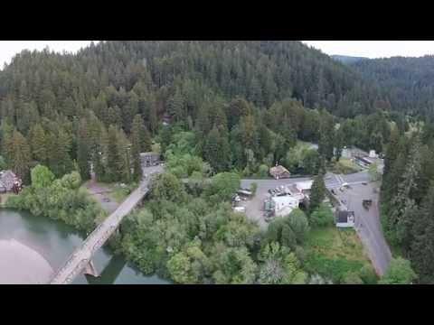 DJI FPV aerial drone video over the Russian River & Monte Rio