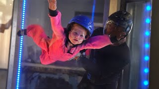 ADLEY LEARNS TO FLY!! Skydiving with the Family and a hidden door to Play New Games!