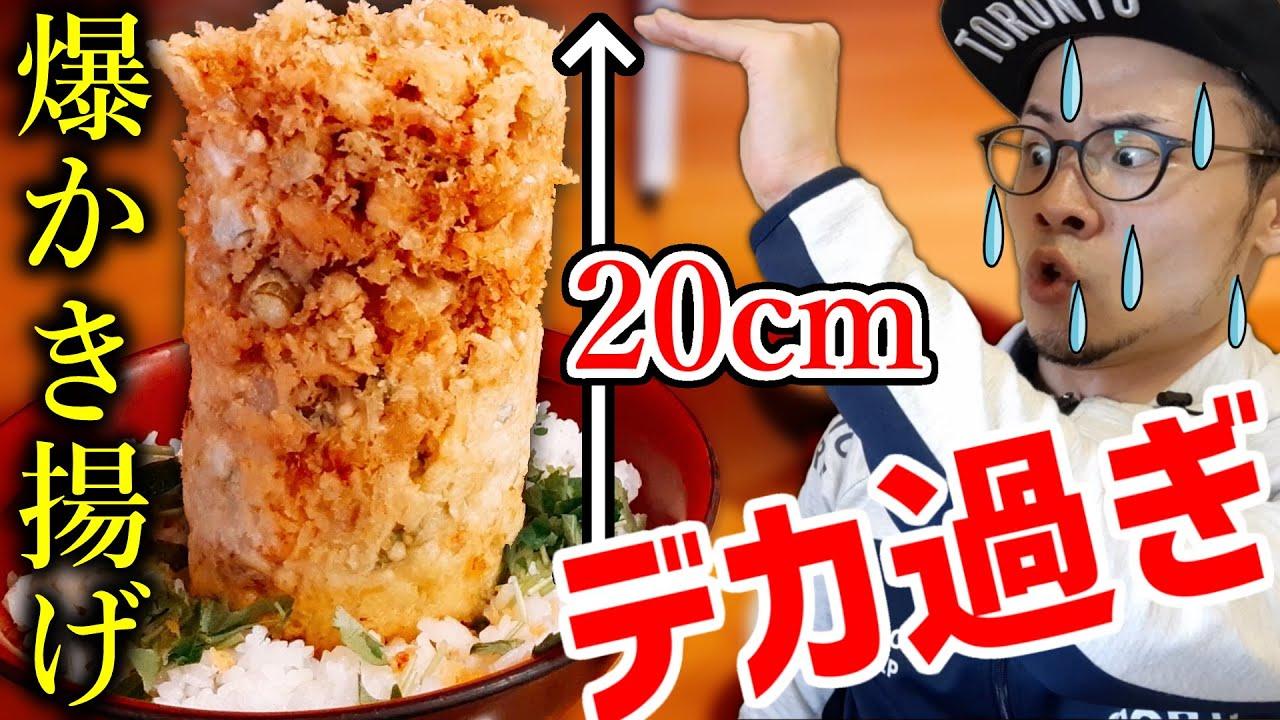 【デカ盛り】朝から並ぶ店の海鮮かき揚げ丼が金メダル級の大食い飯だった【バイクツーリング】