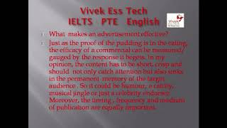 Advertisements (Part one). IELTS Speaking Practice English Hindi