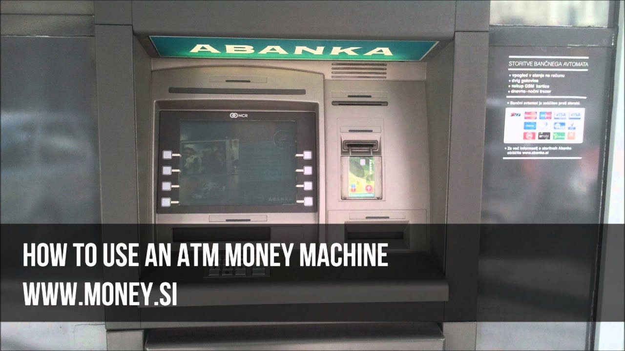 how to use an atm machine