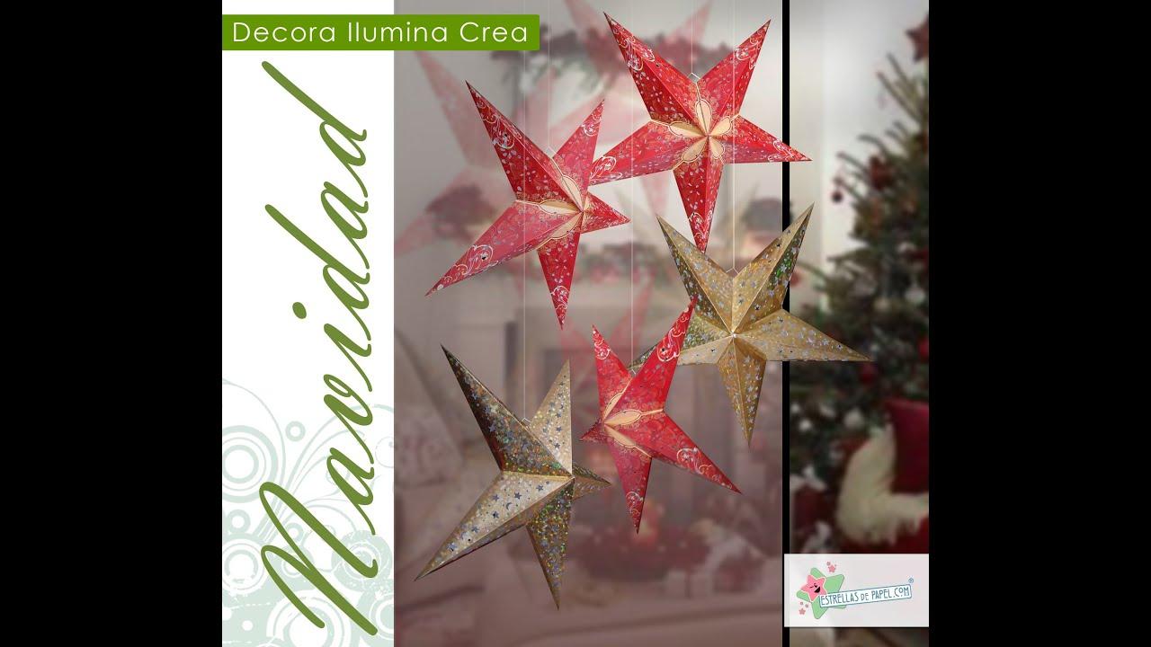 Navidad con estrellas de papel chuladas creativas - Estrellas de papel para navidad ...