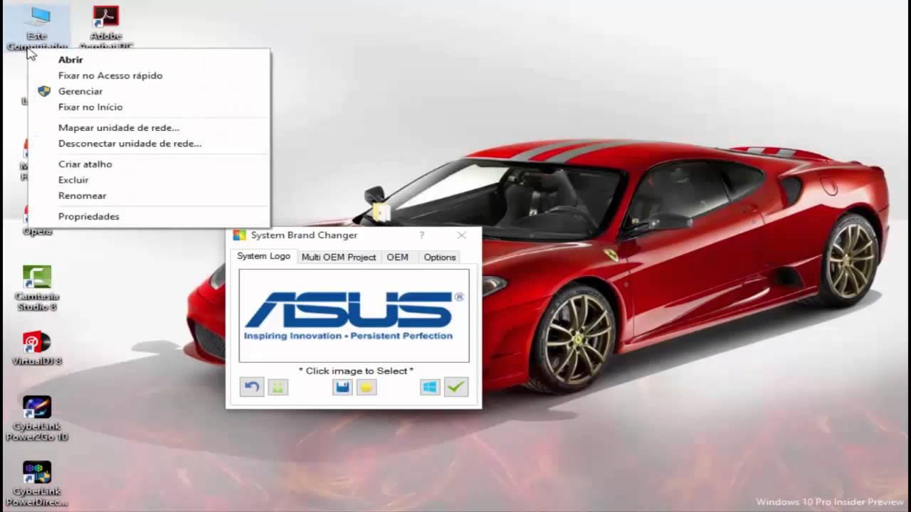System brand changer logo windows 10 youtube for Brand windows