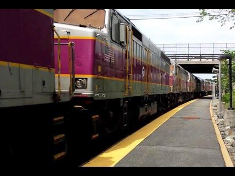 "F40PH ""Screamer"" Conga Line - MBTA Commuter Rail"
