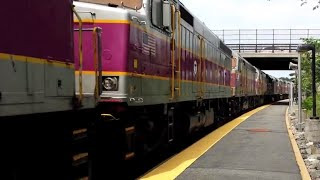 "F40PH ""Screamer"" Conga Line - MBTA Commuter Rail"