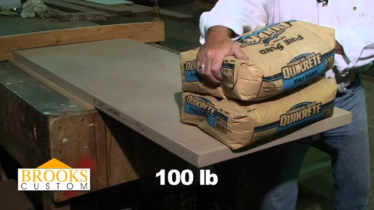 Concrete Countertops  350lb Challenge  Brooks Custom