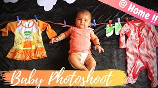 DIY Infant Photoshoot | Newborn Photoshoot Ideas At Home | Baby Photoshoot Ideas