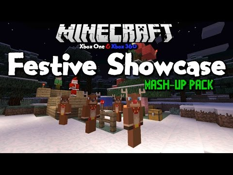 MineCraft Xbox One Festive Mash-Up Pack  Armor & Monster Showcase  Xbox 360 Edition Texture Gameplay