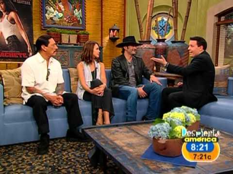 Robert Rodriguez y Jessica Alba invitados en Despierta America
