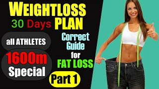 Weight loss ka sahi or scientific tarika   diet plan weightloss running