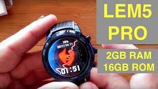 lEMFO LEM5 PRO Android 5.1 2GBRAM/16GBROM Smartwatch: Unboxing & Overview