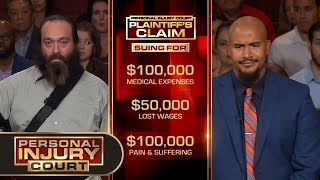 Plumber Nearly Plunges Into Sewage - $250,000 Case (Full Episode)  Injury Court