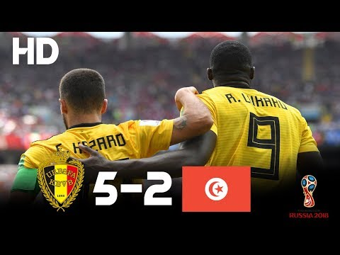 Belgium vs Tunisia (5-2) - 2018 FIFA World Cup Russia- Highlights HD