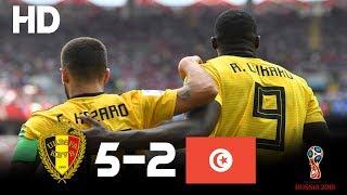 Belgium vs Tunisia (5-2) - 2018 FIFA World Cup Russia- Highlights HD