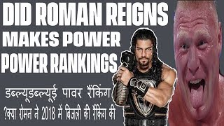 did Roman Reigns makes Power Rankings? WWE Power Rankings April 15, 2018 in hindi/urdu