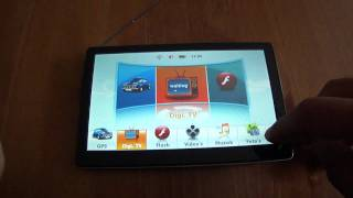 "7"" GPS DealExtreme SKU 56308 Navigation custom startup and IGO Primo"