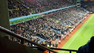 Wolves fans celebrating goal vs Aston Villa