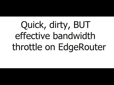 Ubiquiti Networks - EdgeRouter - EdgeMAX - Bandwidth Throttle For Cheaters!