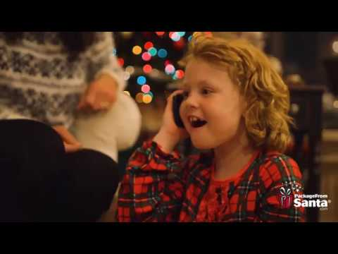 After the mall visit, parents will receive an email from PackageFromSanta.com. They are directed to create an account, upload a photo of their child and choose the date and time of the free phone call from Santa delivery. The child will receive a phone call from Santa where he calls the child by name! Scheduled calls can be sent to either a smartphone or a landline.