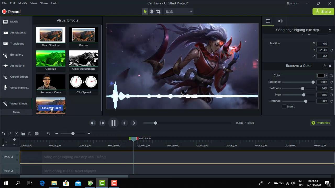 Hướng Dẫn Cách Làm Video chèn Sóng Nhạc Trên Máy Tính | Tạo Video nhạc ảnh động | Kiếm Tiền Youtube