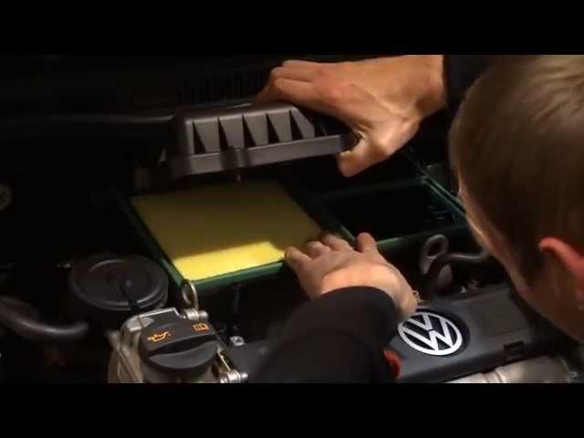 VW polo sedan / замена воздушного фильтра - 036 129 620 J