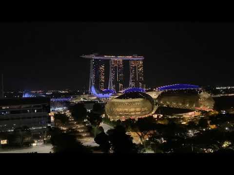 Singapore city night scene