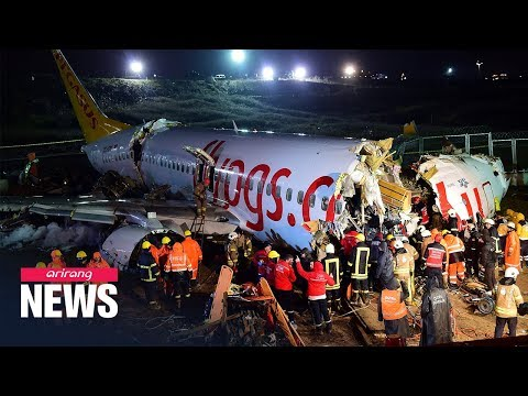 Plane skids off runway in Istanbul, killing at least 1, injuring 157