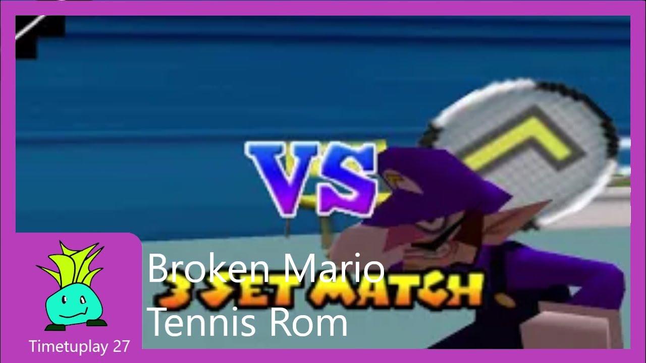 broken Mario tennis ROM !SEIZURE WARNING!