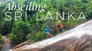Abseiling Down A Waterfall In Sri Lanka