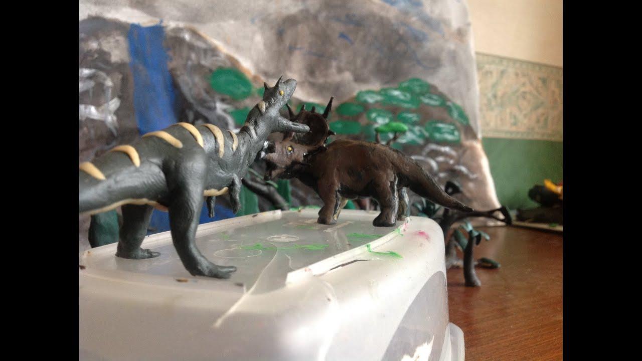 Lovely Day on Skull Island. Albertosaurus vs Ferrucutus
