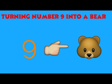 HOW TO TURN THE NUMBER 9 INTO A CARTOON TEDDY BEAR 🐻