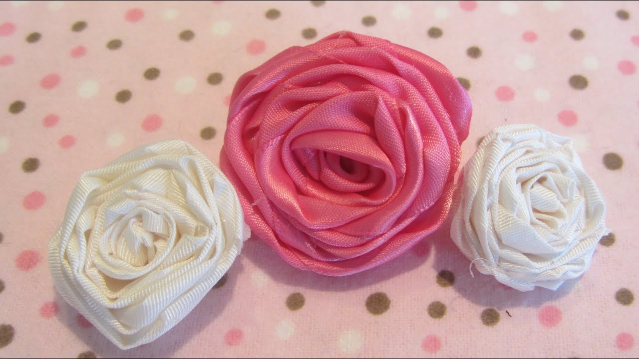 How to make a rolled ribbon rose fabric flower tutorial youtube how to make a rolled ribbon rose fabric flower tutorial mightylinksfo