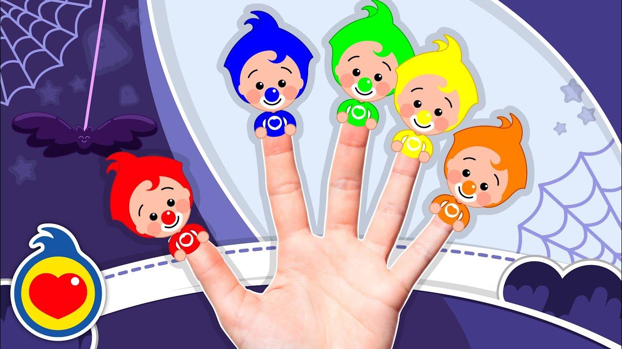 A Família Dos Dedos Coloridos de Halloween #1 |Música infantil | Um Herói do Coração