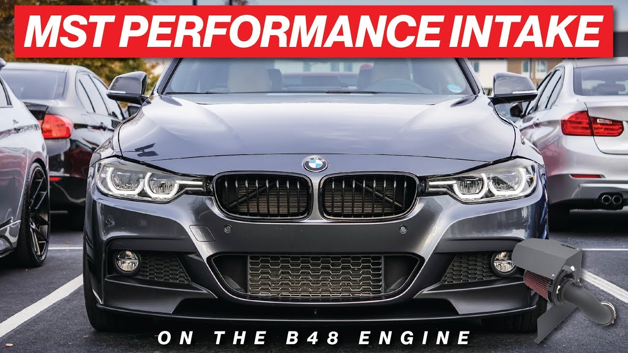 F30 BMW MST PERFORMANCE INTAKE INSTALL AND SOUNDS ON THE B48 ENGINE!