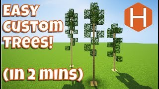 Easy Custom Trees 2 Minute Tip Minecraft Tutorial