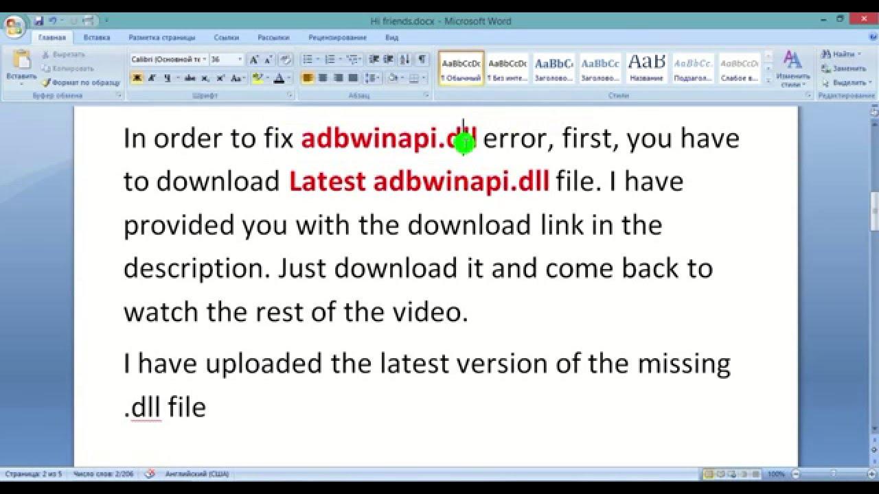 How to Fix adbwinapi.dll is Missing Error on Windows (XP,7 ...