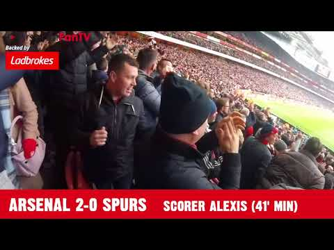 Arsenal 2-0 Tottenham | Chants and Celebrations inside The Emirates | London Is Forever Red