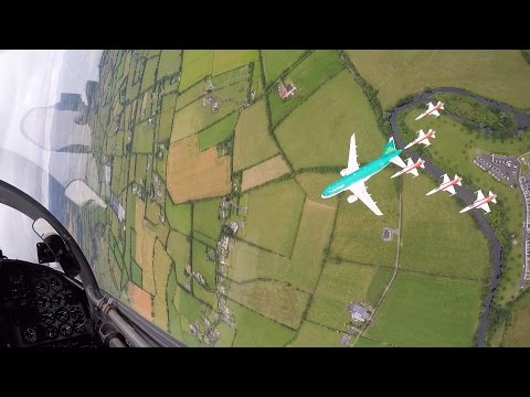 Aer Lingus | Formation flying with Patrouille Suisse | Bray Air Display 2015